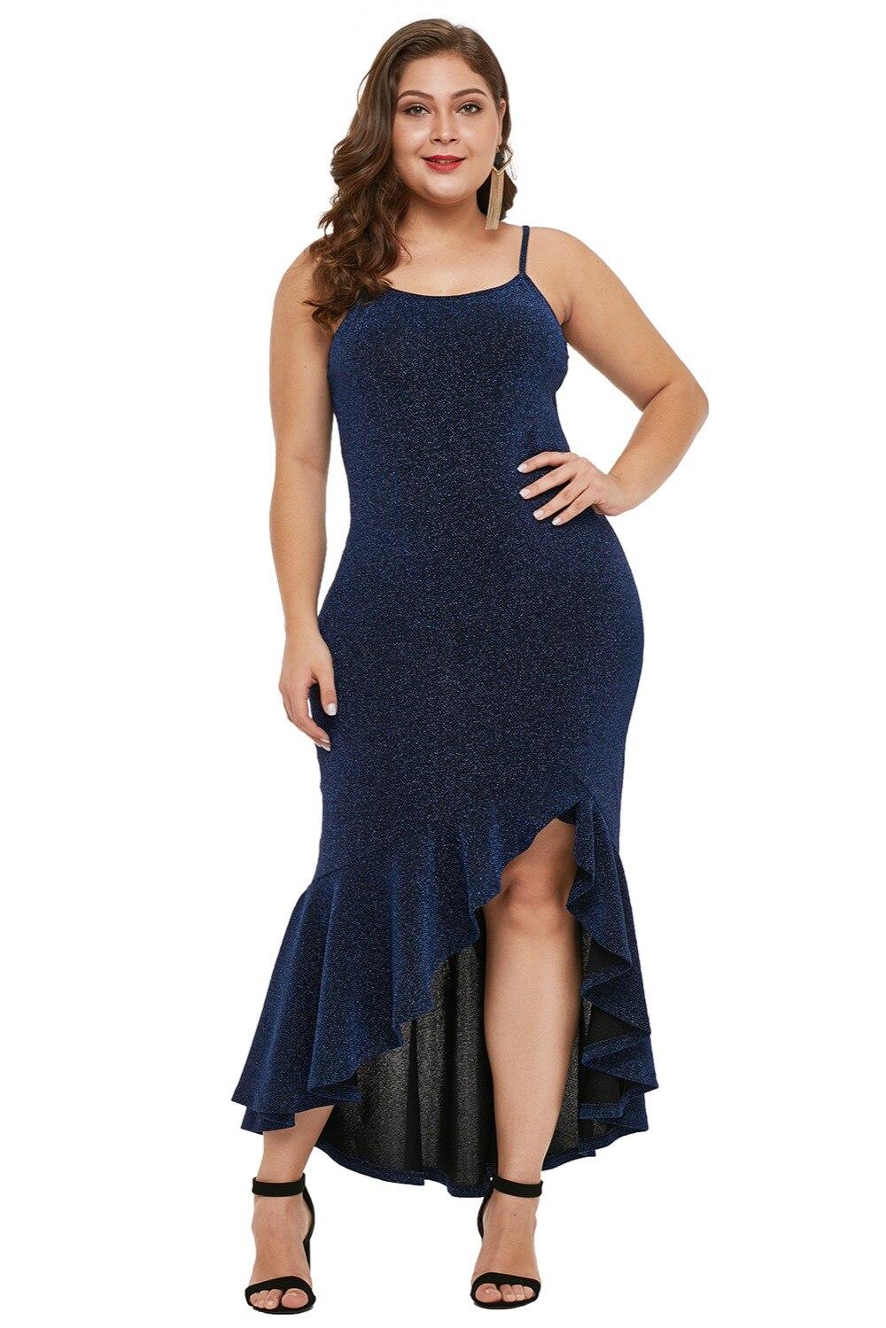 Navy-Blue-True-Shine-Plus-Size-High-low-Dress-LC610939-5-1