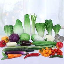 Random Sent 1 Piece Creative Artificial Vegetables PU Cucumber Carrots Fake Decorative Cute Dining Table Decoration