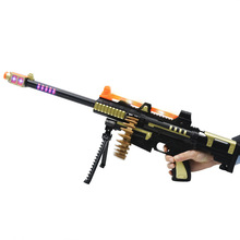 купить Electric Guns Toy with Flash Light Sounds Effect Shooting Game Rotating Bullets Submachine Gun Weapon Safety Kids Pistol Toys дешево