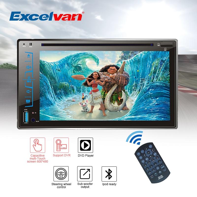 "Clear Stock 6.2"" HD Capacitive Car DVD Player Touch Screen Bluetooth Stereo Radio CD/MP3/FM/AM/USB/SD/AUX-IN 2Din MP4 MP5 автомобильный dvd плеер lxt 4 1 hd usb fm sd mp5 mp3 12v"