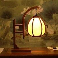 Китайский стиль деревянные настольные лампы старинного дерева, гостиная лампа Классическая исследование теплые спальня тумбочка свет za9910