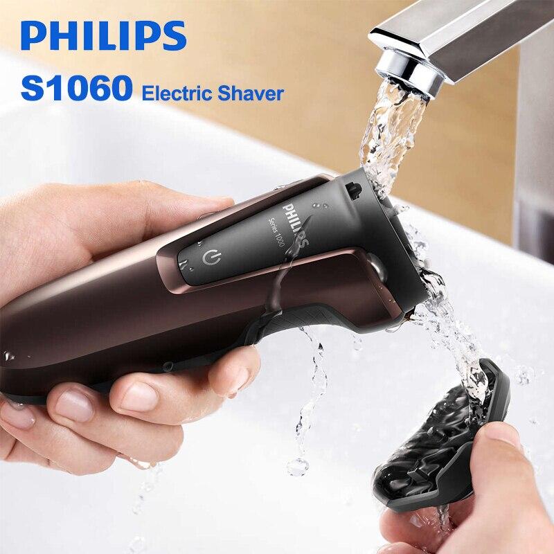 Philips S1060 rasoir électrique rotatif Rechargeable lavable Machine à raser avec trois têtes flottantes pour hommes rasoir Triple lame