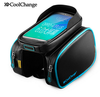 Coolchange Bike Bicycle Ride Frame Front Head TopTube Bag Double Cycling Pannier For 6 0 6
