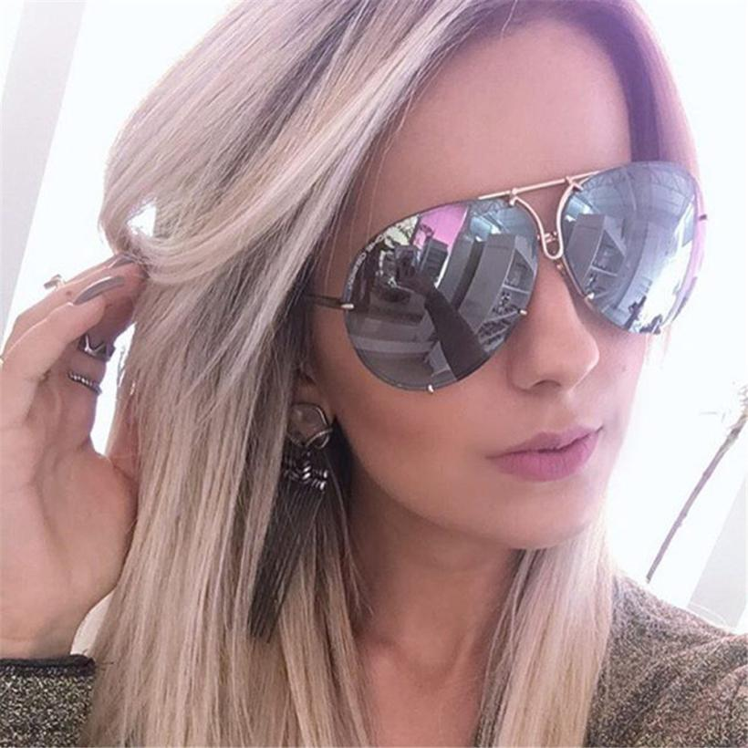 Couple Unisex Oversized Aviator Sunglasses Flat Top Big Large Luxury Mirrored Women and Men Sunglasses Dropship High Quality P40
