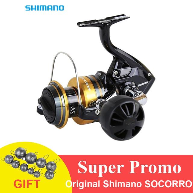 6068e0f302b 100% Original Shimano SOCORRO SW 8000 Big Sea Fishing Reel 4+1BB 4.9 ...