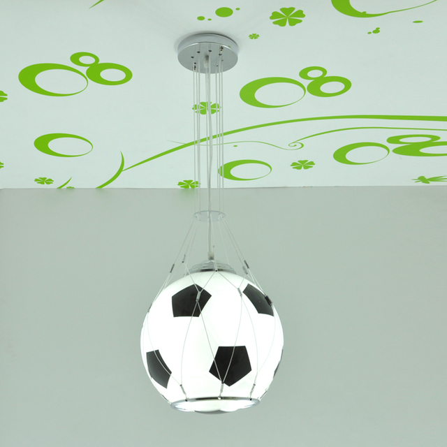 Bambini calcio lampadario stile cartone animato di basket