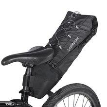 NEWBOLER водонепроницаемая велосипедная сумка для седла, большая велосипедная сумка для задних сидений из ТПУ+ полиэстера, Аксессуары для велосипеда 12л