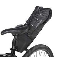 NEWBOLER 100% bolsa impermeable para SILLÍN de bicicleta grandes bolsas de asiento trasero de bicicleta TPU + poliéster para ciclismo accesorios de bicicleta 12L