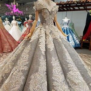 Image 2 - AIJINGYU koronkowe suknie ślubne luksusowe suknie Vintage dojrzałe amerykańskie akcesoria główna ulica prosty długi biały strój na ślub