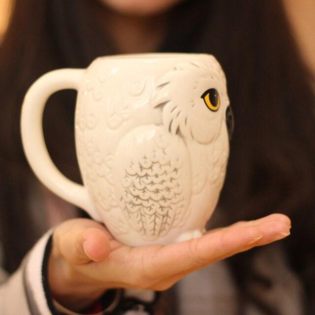 3D Animal Cups Owl Mug Ceramic Mug Coffee Cup Cute Office Mugs Christmas  Gifts