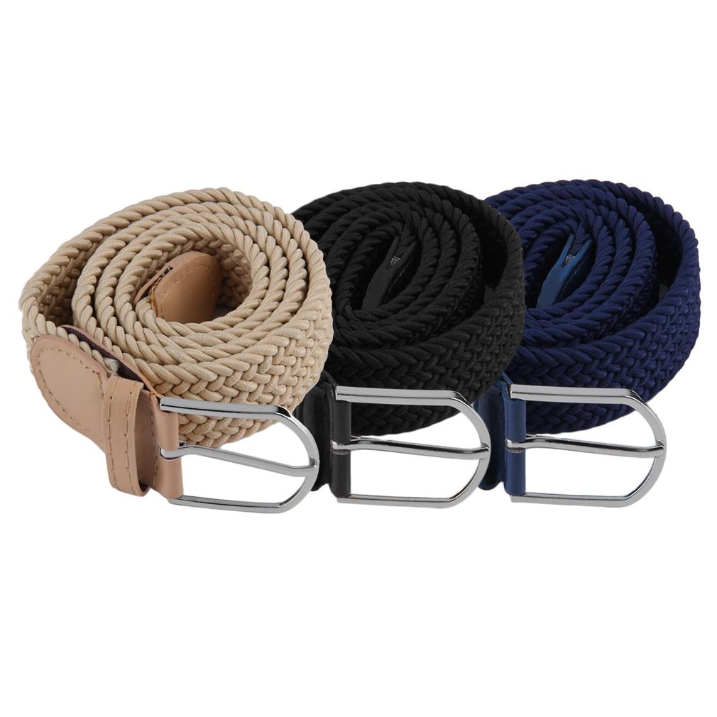 NEW Men's Casual Woven Braided Stretch Elastic Belt Waistband Waist Strap Stylish Practical