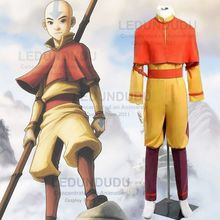 Customized Anime Avatar The Last Airbender Men Fancy Halloween Clothes  Aang Uniform Cosplay Costume