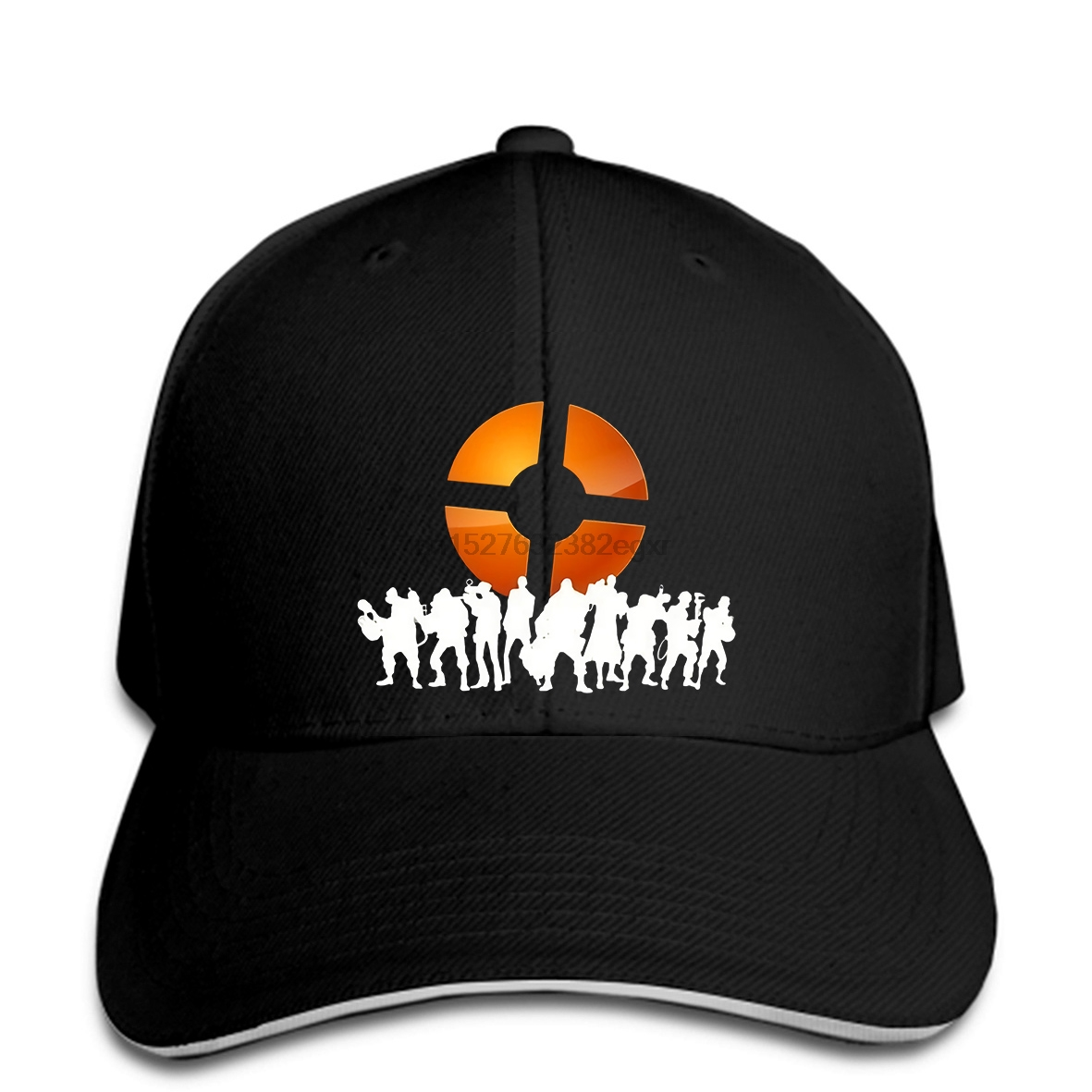 Men Baseball Cap Team Fortress 2 Logo Baseball Cap Black Funny