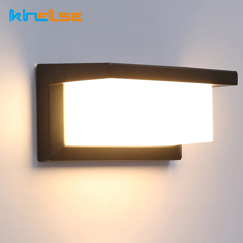 Us 25 32 Off Outdoor Led Lighting Motion Sensor Wall Light Waterproo Courtyard 18w 30w Modern Lamp Garden Corridor Porch Door Decora In