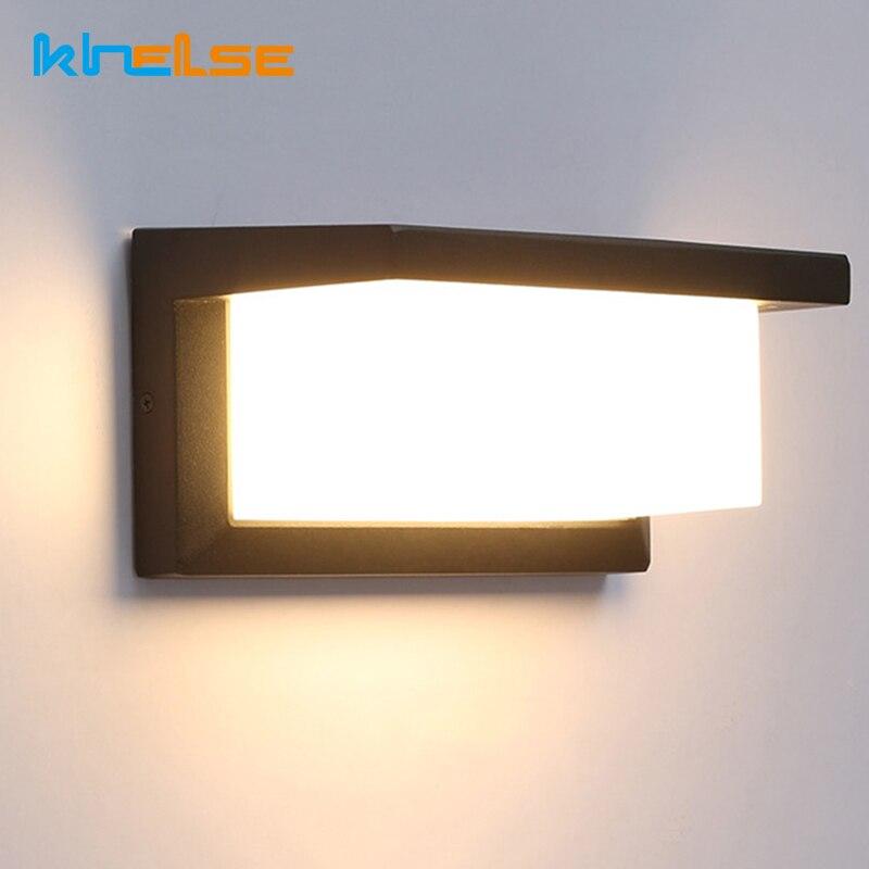 iluminacao led ao ar livre sensor de movimento conduziu a luz da parede waterproo patio 18