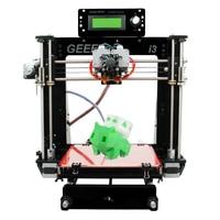 Двойной экструдер двойные головки Reprap 3D Printer Prusa I3 двухцветная печать High Resolution Impressora LCD