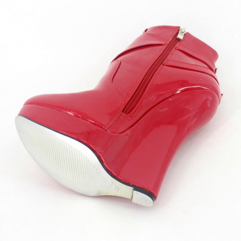 rouge Sexy pourpre Australie Cheville Haute Talons Talon Mujer Chaussures D'hiver Sans Plate Femmes Wedge forme rose Botas Noir Femme Bottes Court HRHwrq