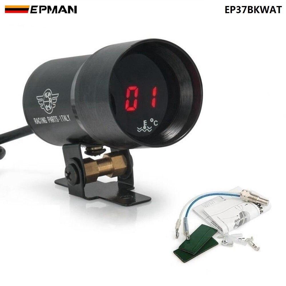 37mm-compact micro digital fumou o preto do calibre de temperatura da água da lente para bmw e39 5-series (oem: EP-DGT8102) ep37bkwat