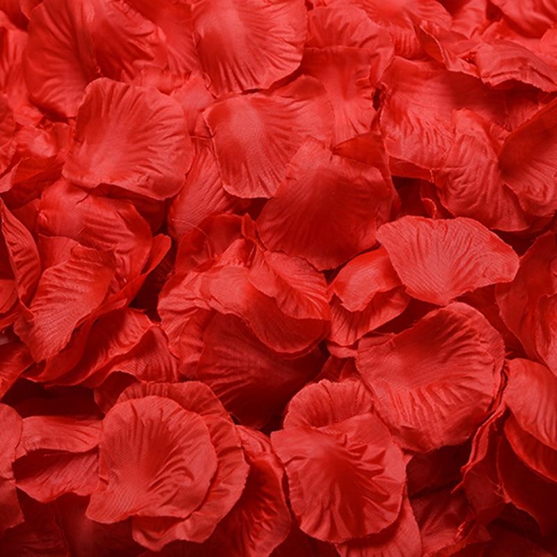 JaneVini Pétalos de Rosa Artificiales 1000 unids Niña de las Flores - Accesorios de boda - foto 6