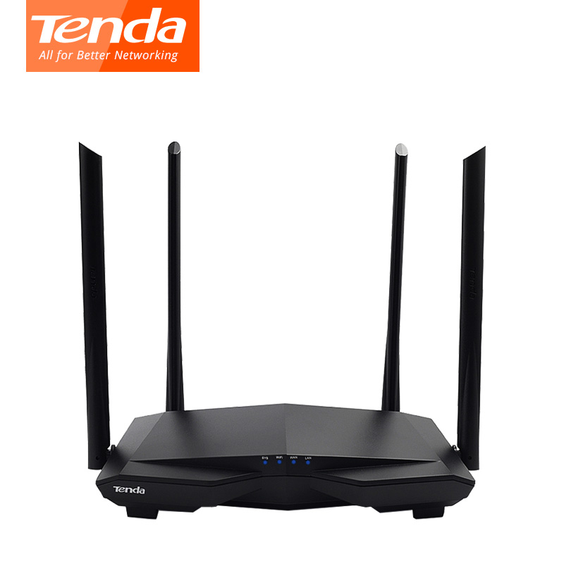 Tenda AC6 1200mbps Wireless Wifi Router Dual Band 2.4Ghz/5.0Ghz 11AC Smart Wifi Repeater APP Remote Manage English Firmware      tenda d301 wireless adsl modem wifi router english firmware 300m networking extender repeater hardware 3c rohs ce wifi router