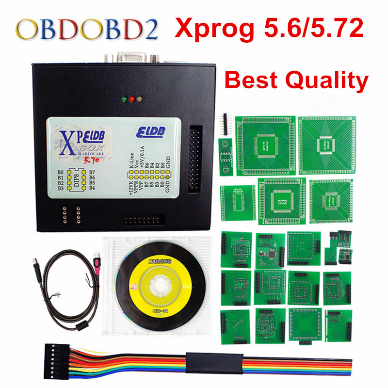 Newest Version XPROG-M 5.72 ECU Programmer Xprog M V5.72 ECU Chip Tuning Better Than X-Prog M box 5.6 Chip Programmer Free Ship