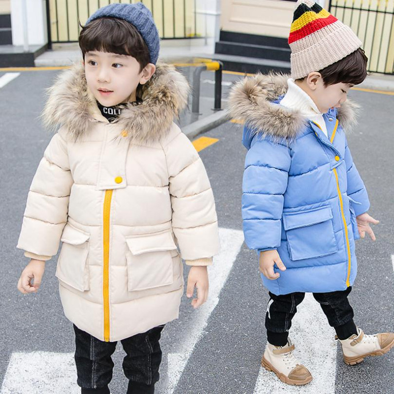 DFXD Winter Children Clothes Boys Girls Down Jacket Thicken Long Zipper Fur Collar Hooded Parka Coat Kida Warm Outwear 1-7YearsDFXD Winter Children Clothes Boys Girls Down Jacket Thicken Long Zipper Fur Collar Hooded Parka Coat Kida Warm Outwear 1-7Years
