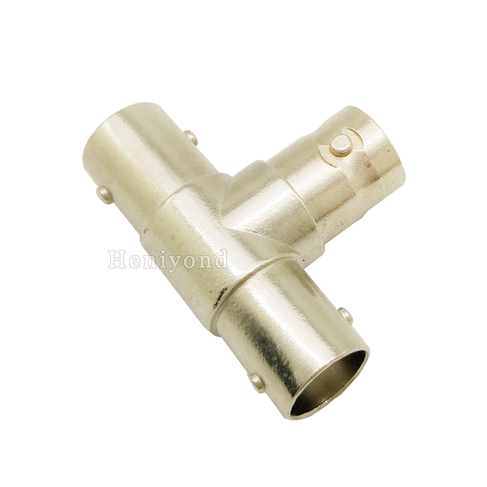 10Pcs BNC T Adapter Splitter Male Connector Coupler 3 Female Jack Plug For CCTV Camera