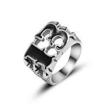 35ab3a4d5945 Número 13 calavera garra anillo para hombres de aleación de Zinc de Punk  motorista anillos de