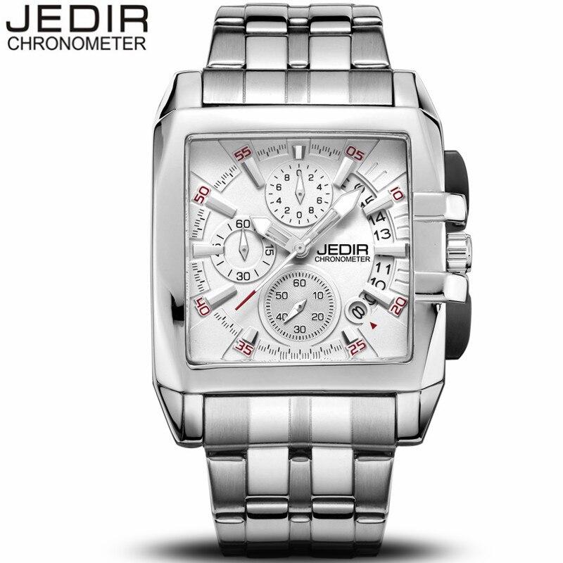 JEDIR Men Business Full Steel Wristwatch Chronograph Luminous Clock Male Sport Waterproof Quartz Watch relogio masculino N59