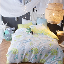 cool yellow bedding set queen size 100 cotton kids bedding set printed duvet cover multisize bedspread pillowcases coverlet