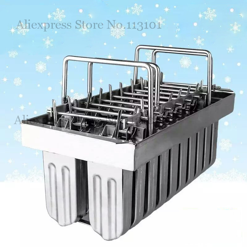 Ice Cream Mold 20pcs/batch DIY Popsicle Molds Stainless Steel Ice-lolly Moulds with Sticks Holder