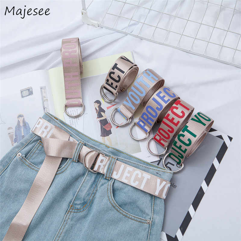 Belts Women Letters Straps Ladies Elegant Womens Waist Belt Simple All-match Female Chic Students Casual Fashion High-quality