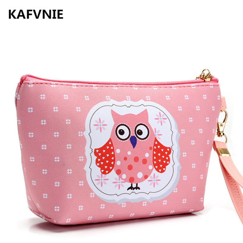 2017New Cosmetic Bag Handmade Animal Owl Women Travel Toiletry Makeup Wash Organizer Necessaire cosmeticos