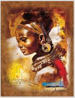 100% Handmade Portrait Oil Painting on Canvas Decorative African Woman Painting for Living Room Wall Decor Vertical No Framed