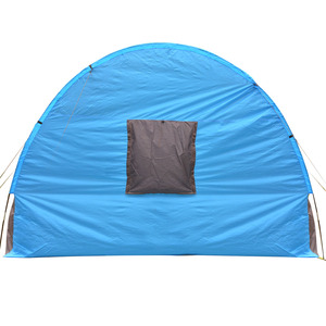 Image 5 - Portable Double Layer Big Tunnel Tent 5 10 Person Outdoor Camping Family Tent House for Party Emergency Case 480*310*210cm 10Kg