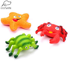 Toys For Pets Dog Cat Toy Solid Safe Rubber Chew Toys Spider Crab Starfish Toy Pet Game Dogs Cats Training Pets Products ZK0012(China)