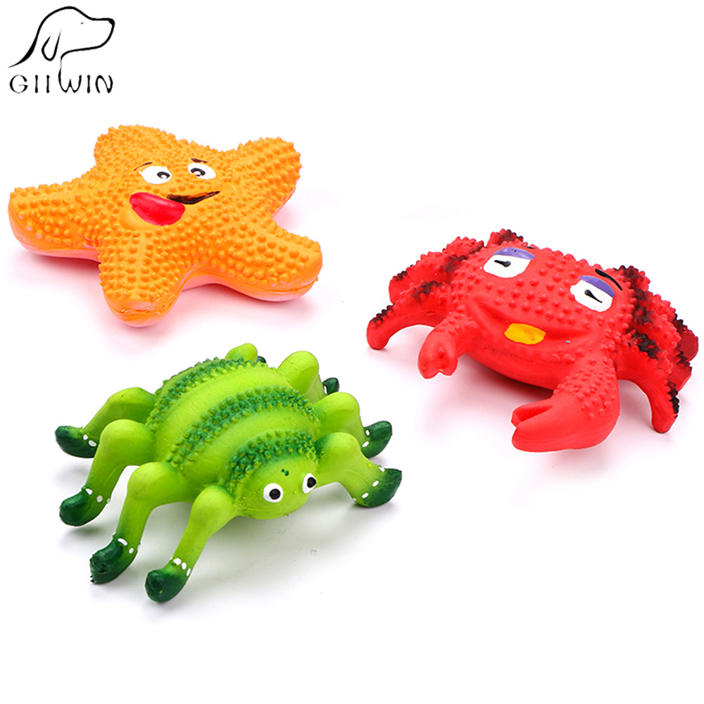 Toys For Pets Dog Cat Toy Solid Safe Rubber Chew Toys Spider Crab Starfish Toy Pet Game Dogs Cats Training Pets Products ZK0012