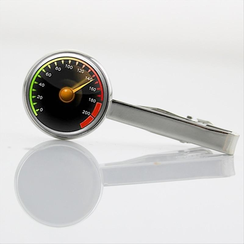 Wear Necktie Pin Speedometer Tie Clip New Arrival Interesting Car Speedometer Motorcycle Tractor Tie Bar Dress Accessories T604