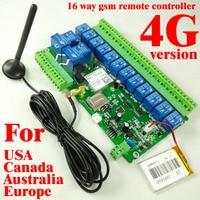 1 sztuk 4G Wersja 16ch Przekaźnika W Czasie Rzeczywistym 4G/3G/GSM Remote Control board akumulator do wyłącz alarm