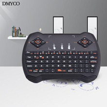 DMYCO R6 2.4G Wireless Russian Hebrew English Version keyboard Touchpad Mini QWERTY Keyboard for PC Notebook Android TV Box HTPC
