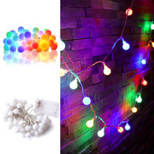 Multicolor Globe Twinkle Fairy Lights Battery Operated Waterproof Starry LED String Lights for Wedding Home Wall Decoration