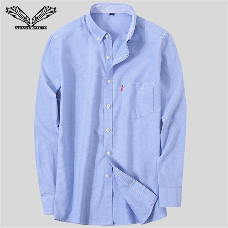 VISADA JAUNA Camisa de negocios de los hombres 2017 camisas de los - Ropa de hombre - foto 6