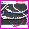 Retail Fashion White Copy Pearl Beaded Eyeglasses Sunglasses Eyewear Chain Cords Lanyard Rope Holder free shipping L832