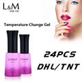 24 Pcs Lot Gel Lacquer Smart Gel Temperature Change Color Gel Color Nail Polish Uv Nails Gel Fast Free Shipping