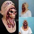 Хэллоуин Латекс Кровавая Маска Зомби Лицо Плавления Walking Dead Ужасы Костюм Партии Prop