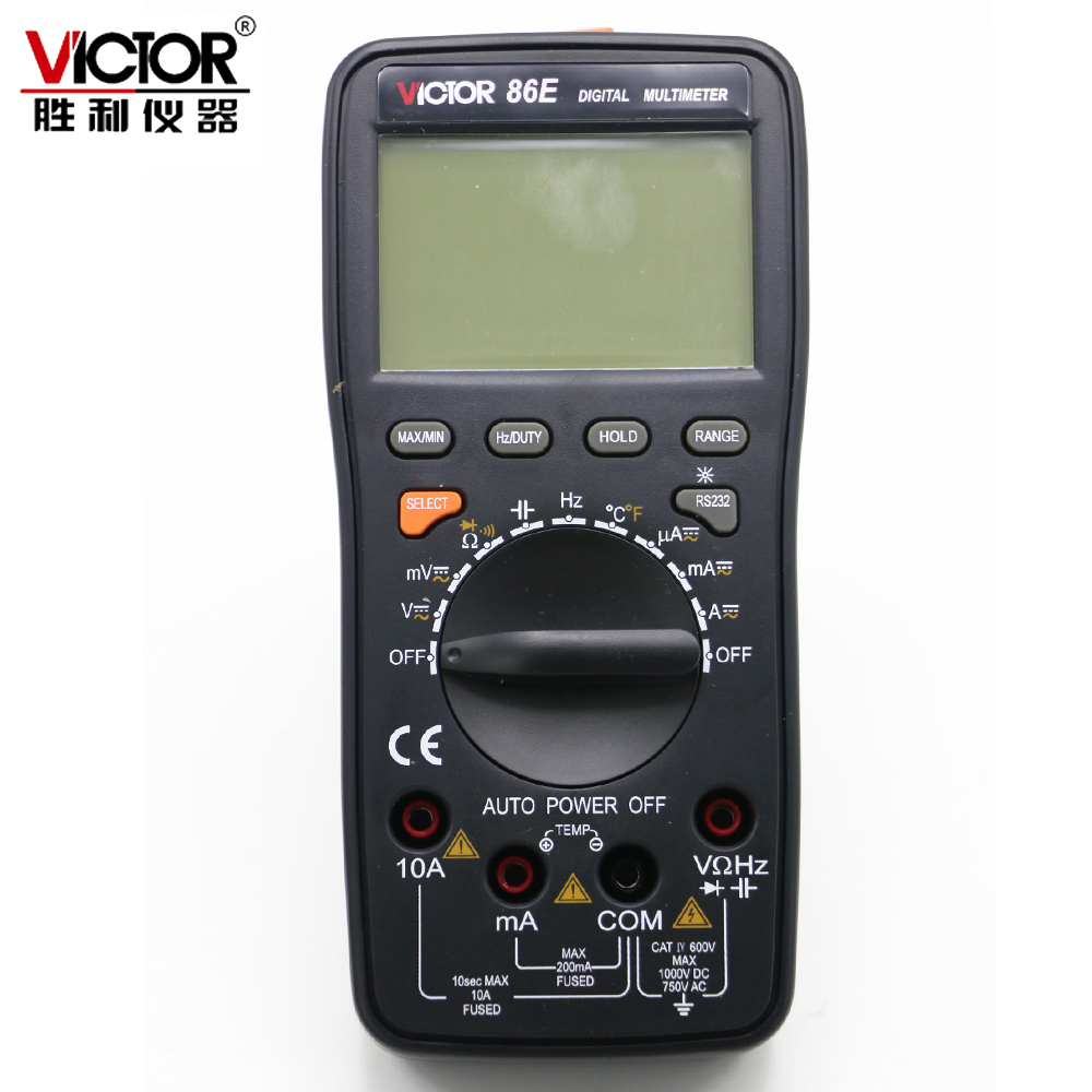 VICTOR VC86E Digital multimeter 4 1 2 Digit Precision multimeter frequency capacitance temperature with USB cable