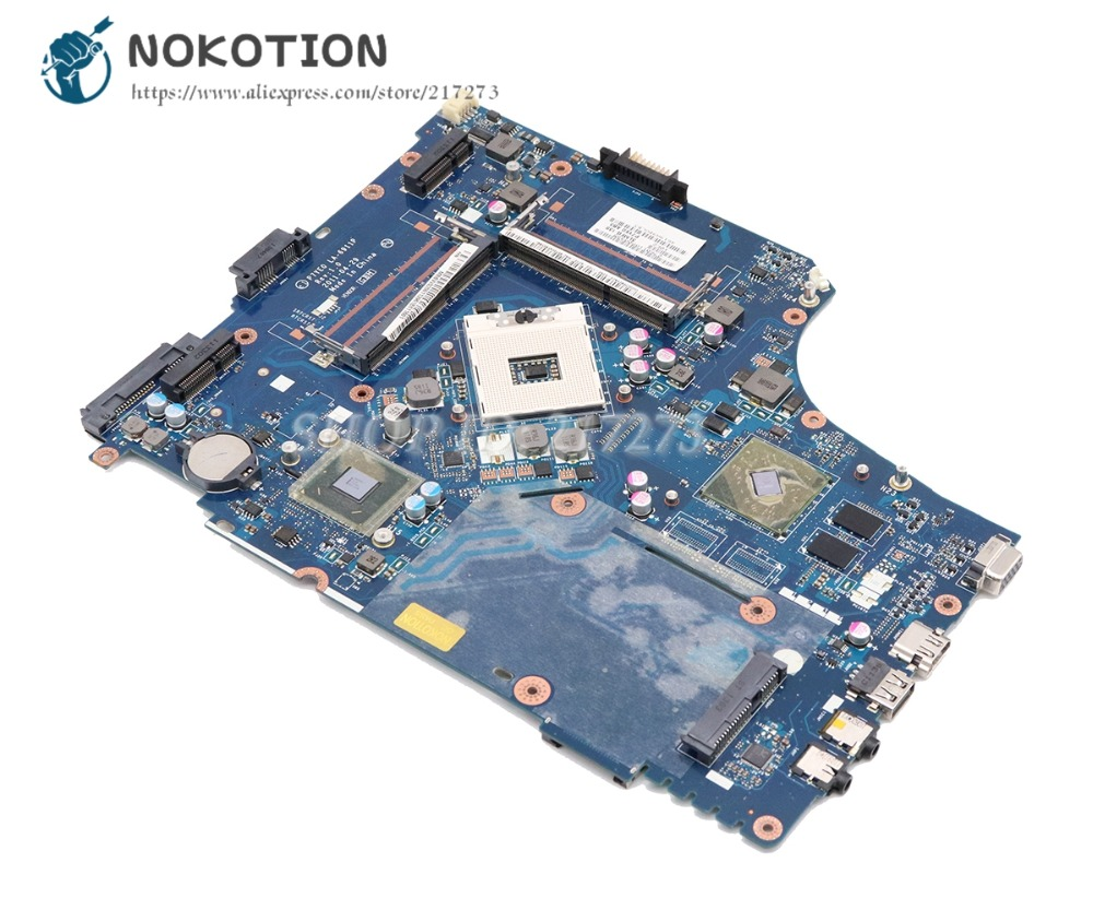 цена на NOKOTION P7YE0 LA-6911P For Acer aspire 7750 7750G Laptop Motherboard HM65 DDR3 HD7400M MBBVV02001 MB.BVV02.001 MAIN BOARD