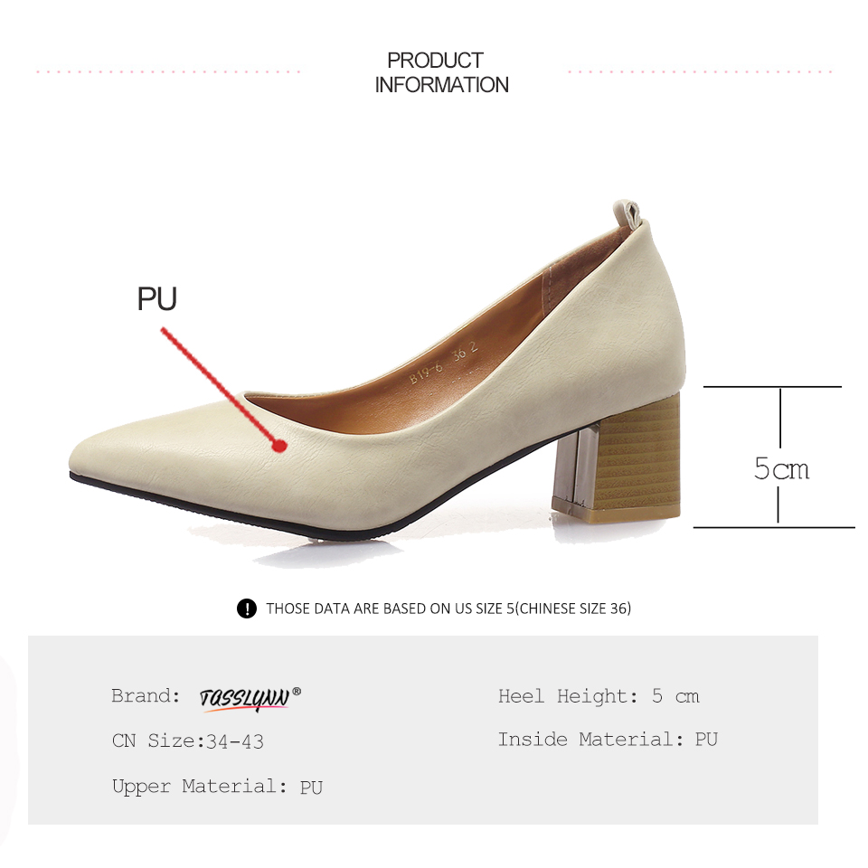 Women Ballerina Flats Plush Shoes Pump Round Toe 3cm Chunkly Heel Loafer Color Match Casual Court Shoes Eu Size 35-39