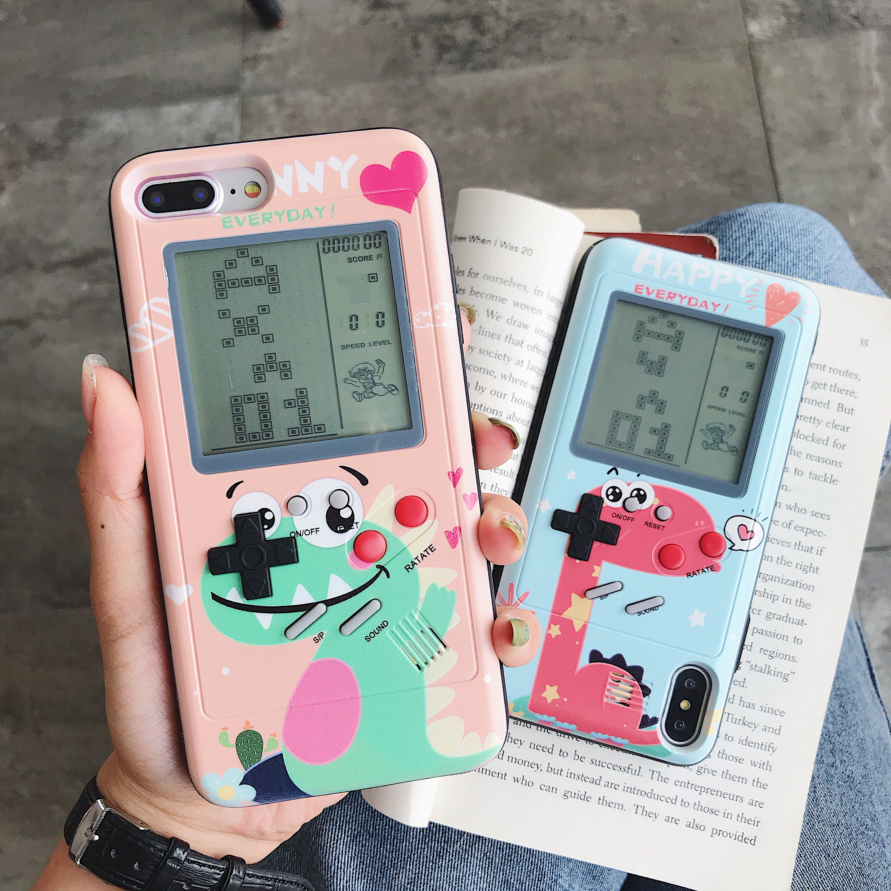 Gameboy Case Console Cover Tetris Game Phone Cases For iphone XR X XS Max 6 6S 7 8 Plus Play Blokus Game Protective Cover capa