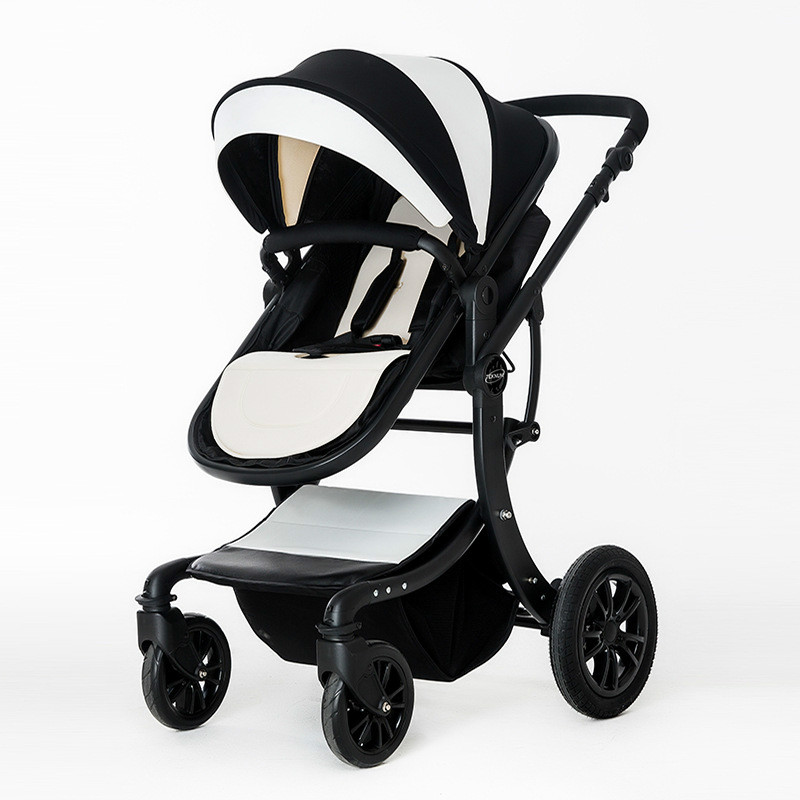 Baby stroller high landscape can sit reclining baby folding car newborn child 0-3 years old child bb stroller 3C lightweight voondo baby stroller can sit cart 2 in 1 and 3in1reclining lightweight folding children high landscape child baby stroller bb